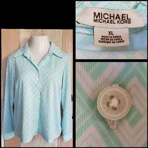 XL women Michael Kors long sleeve button shirt